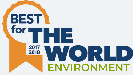 2017 - 2018 Best for the world environment logo
