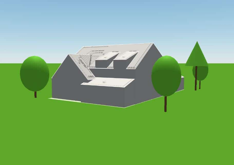 3D Rendering of home from site plans