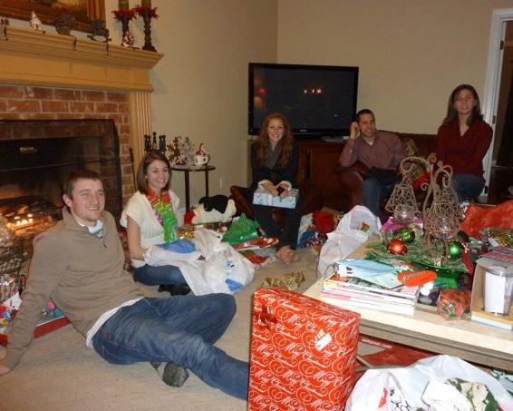 Brandon celebrating Christmas with Family