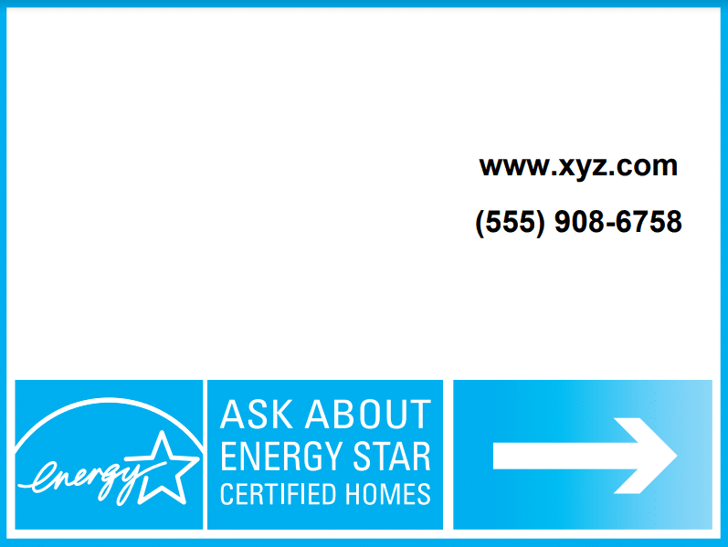 energyStar Horizontal yard Sign thumbnail