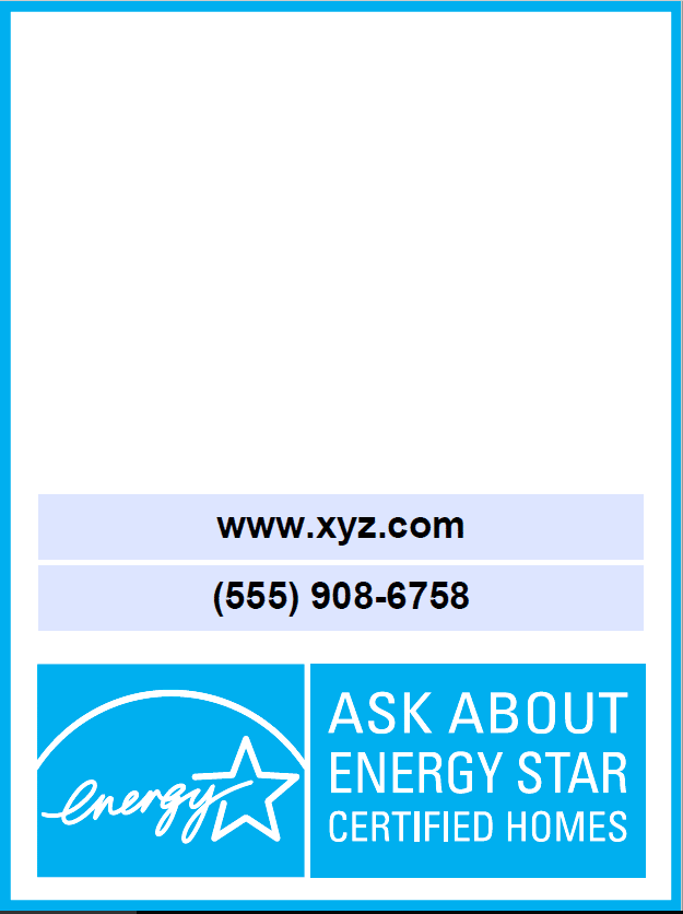 Energy Star Vertical Yard Sign Thumbnail