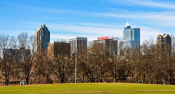 Raleigh Skyline in Wake County