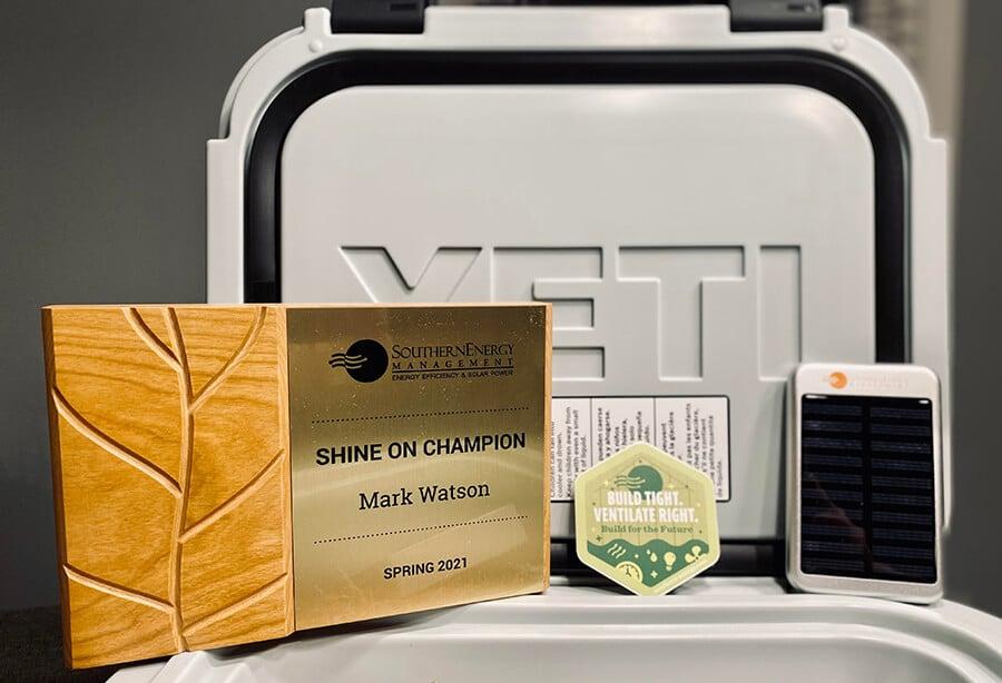 Mark's Shine On Champion award