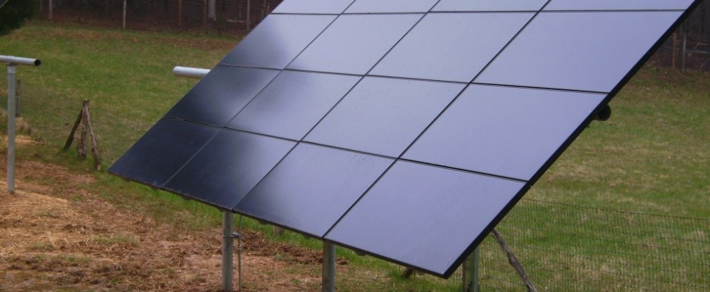 Solar Photovoltaic System Installed on a Rural Homesite