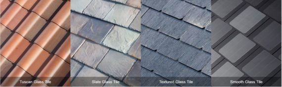 Tesla solar roof tiles style options