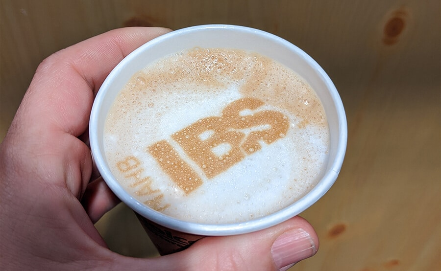 Latte with NAHB IBS Logo imprinted in the foam