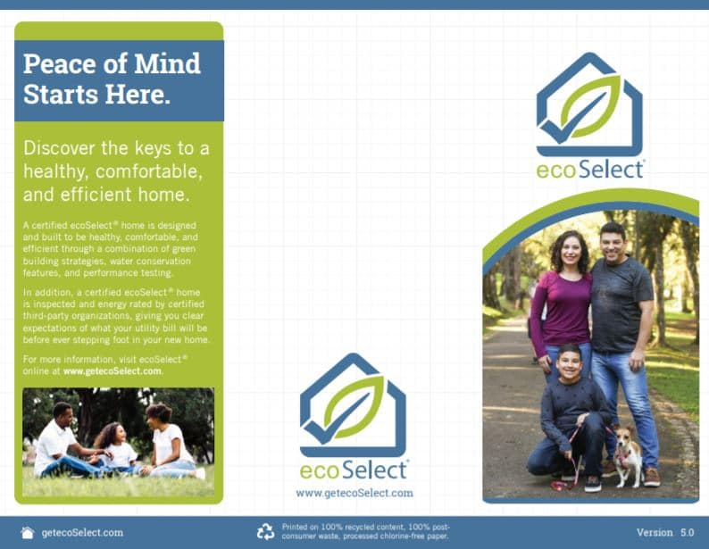 Preview of the ecoSelect 5.0 Trifold Brochure