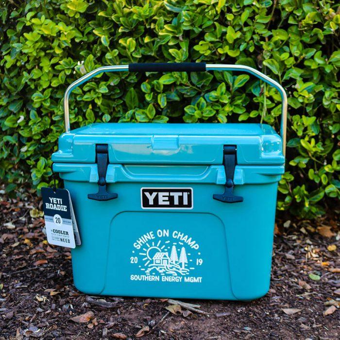 Southern Energy Management Shine On Champion Yeti Cash Cooler