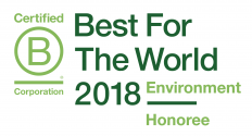 B Corp Best for the World 2018 Environment Logo