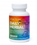 Bottle of Daily Herbal supplements from Vital Plan