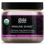 Bottle of Immune Shine support powder from Gaia Herbs