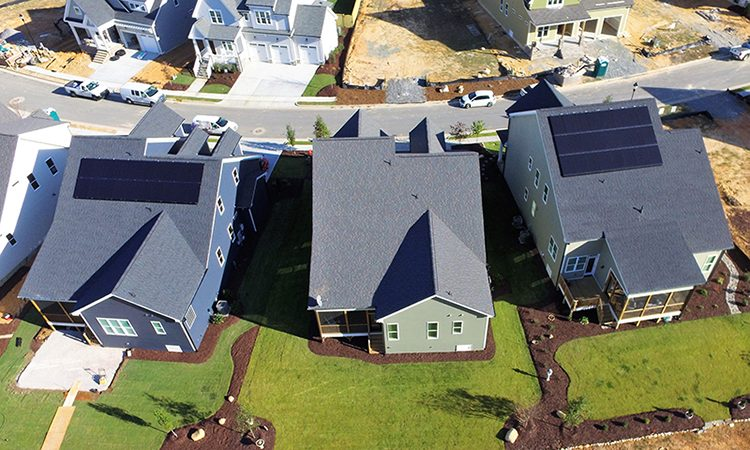 New development high performance homes with solar