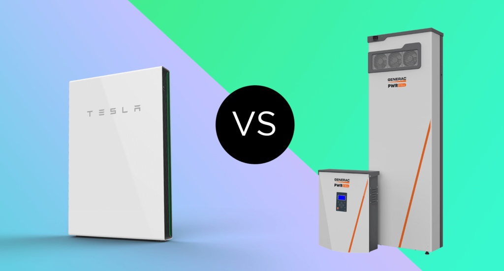 Tesla Powerwall and Generac PWRcell batteries