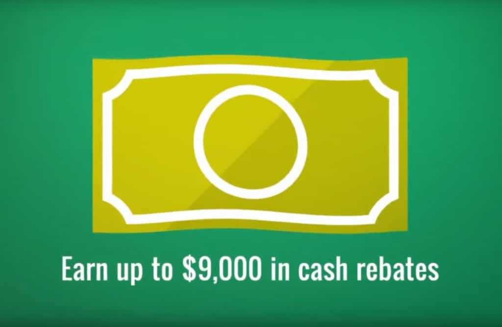 Earn up to $9000 in cash rebates with the HERO Code Program