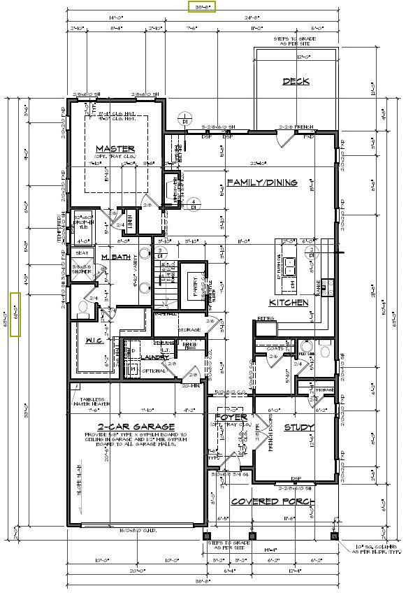 blueprint including a home's measurements