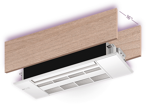 MItsubishi ceiling cassette suspended ductless mini split HVAC unit
