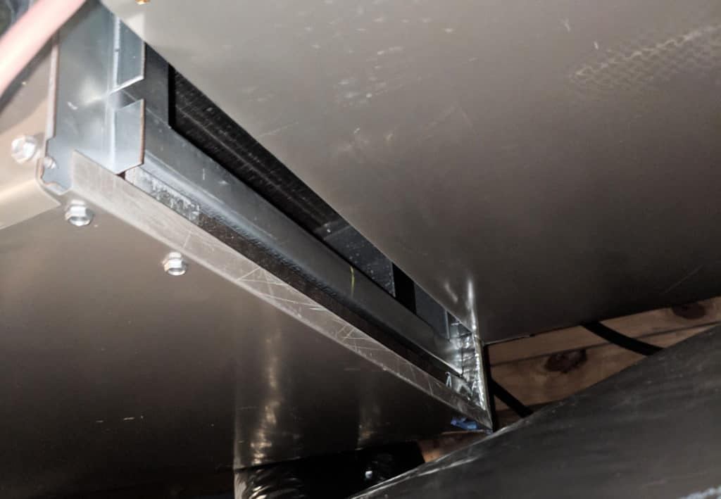 Unsealed plenum air handler
