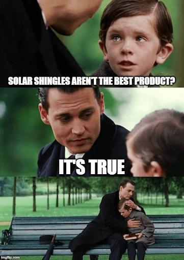Solar shingle meme