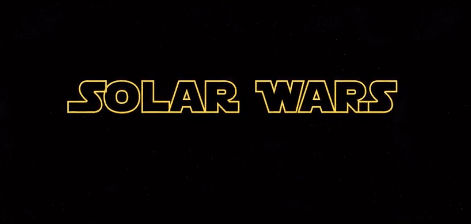 Solar Wars in style of Star Wars