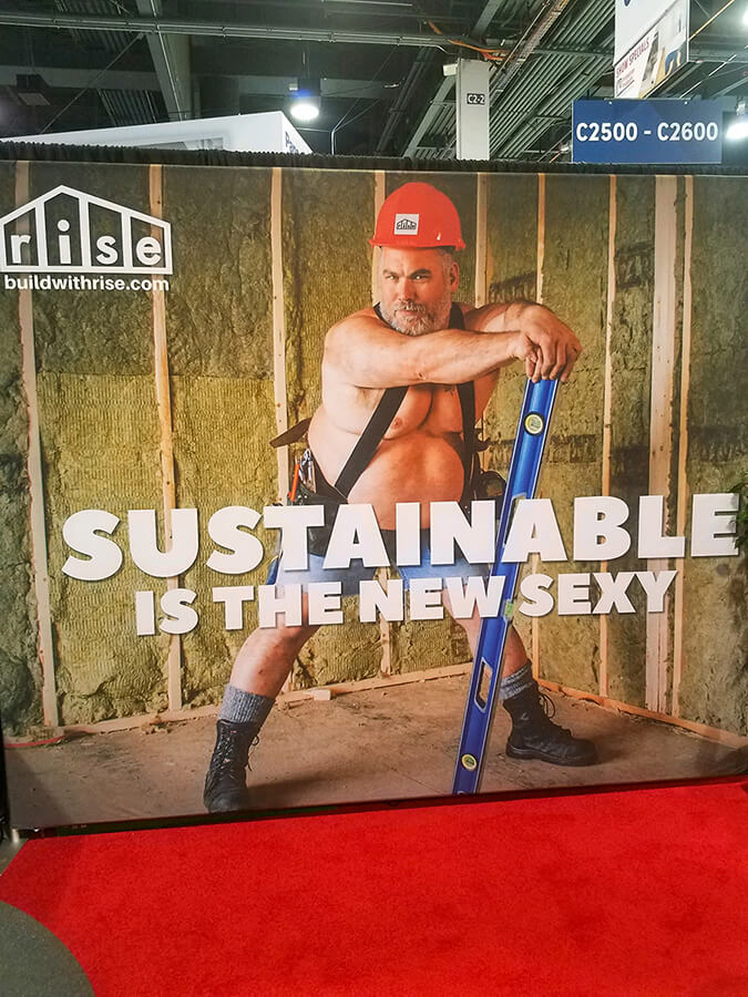 Sustainable is the new sexy poster at IBS 2020
