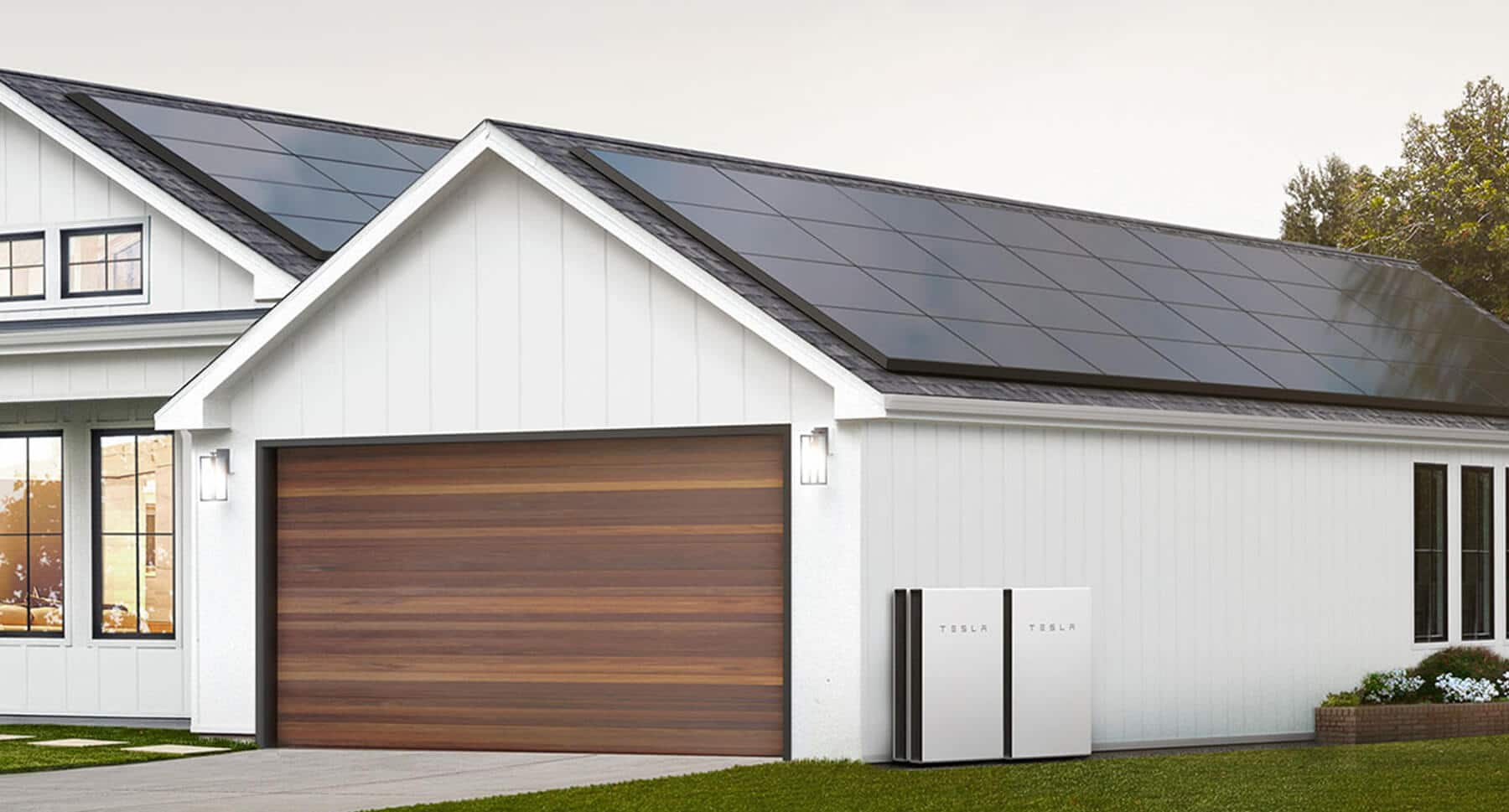 Tesla solar panel system with full skirting