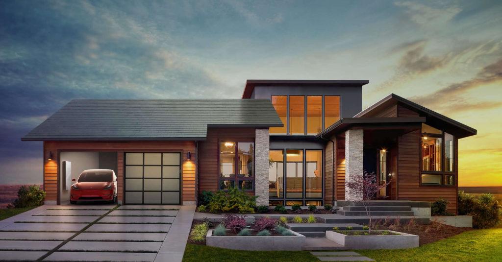 Tesla Solar Roof rendering