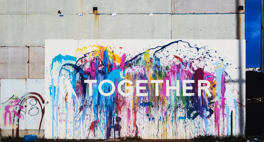 Wall art with Together Mural