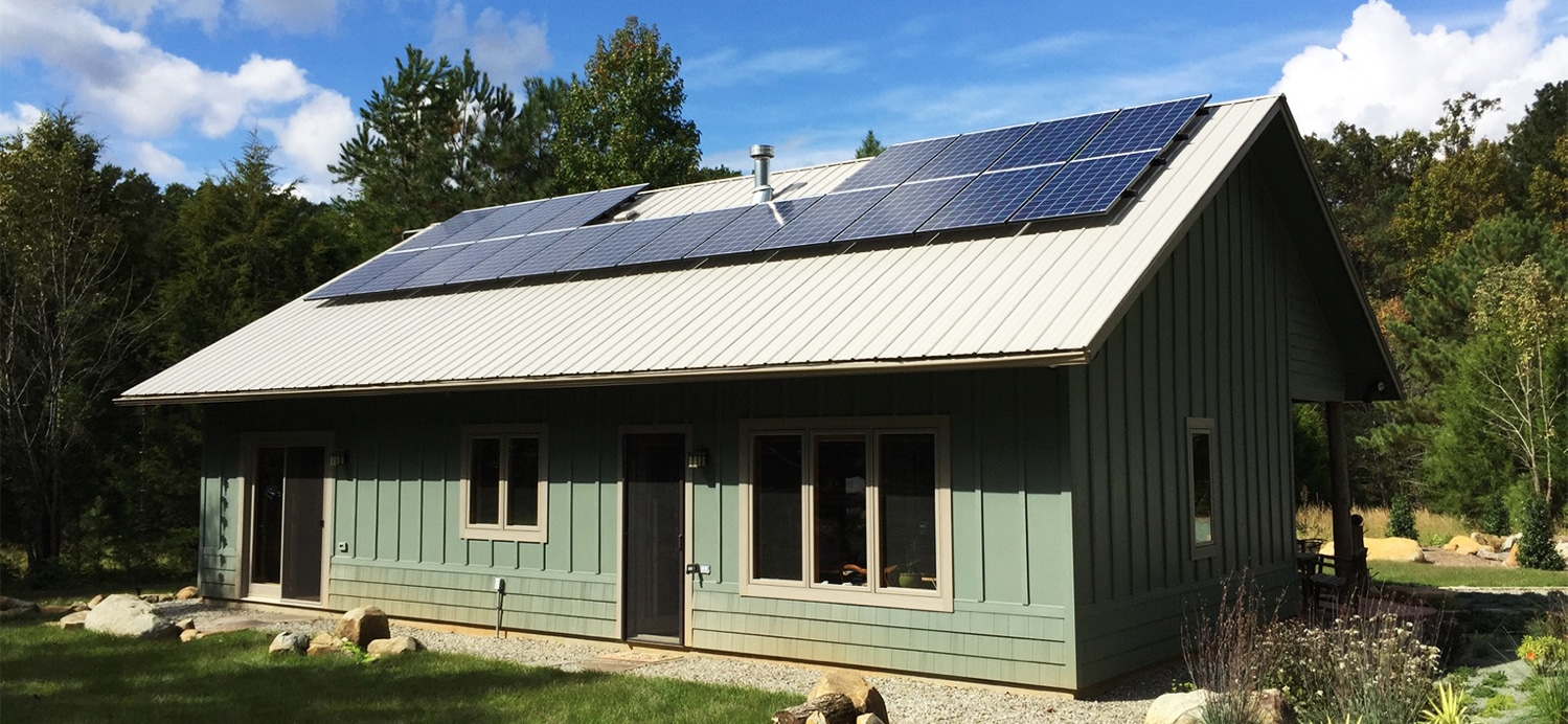 Solar Panel System on Green Home